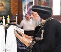 البابا تواضروس يصلي خميس العهد بدير مارمينا بمريوط