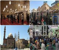 مع الإجراءات الاحترازية.. المساجد الكبرى تتجمل في رمضان.. صور