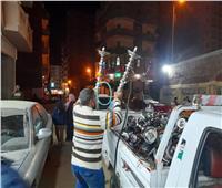 ضبط ومصادرة 55 شيشة وتحرير محاضر للمقاهي المخالفة بكفر الدوار