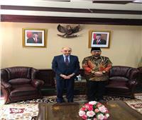 السفير المصري في إندونيسيا يناقش مع وزير الشئون الدينية مكافحة التشدد 