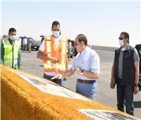 الرئيس يتفقد «الدائري الأوسطي» وسوق السيارات الجديد بطريق العين السخنة| صور