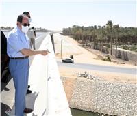الرئيس يتفقد أحد مشروعات تبطين الترع بمنطقة البدرشين| صور