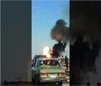 السيطرة على حريق في سيارة نقل بطريق «قنا الأقصر الصحراوي»