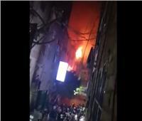 الحماية المدنية تحاصر حريق كنيسة ماري مينا بالعمرانية