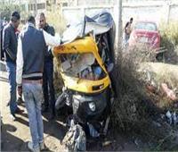 إصابة 4 أشخاص في حادث سير بطريق كوم حمادة الدلنجات