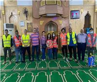 «في مصر حاجة تانية»  مسلم يحمي كنيسة ومسيحية تُعقم المساجد..صور