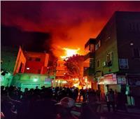 الصور الأولى لحريق ضخم نشب في عقار بـ«الكيت كات»