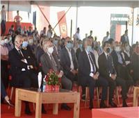 ستاد النادي الأهلي  انطلاق احتفالية وضع حجر الأساس بالسلام الوطني