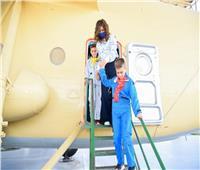 صور| وزيرة الهجرة بصحبة البطل المصري أحمد شعبان لزيارة المتحف الجوي