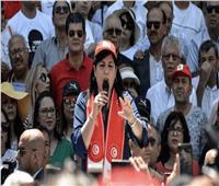 حزب عبير موسى ينظم مسيرة بالسيارات للمطالبة باستقالة الغنوشي والمشيشي