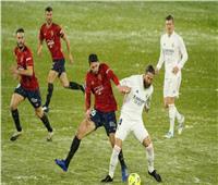 الشوط الأول| التعادل السلبي يسيطر على مباراة ريال مدريد وأوساسونا