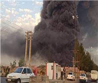 اندلاع حريق هائل بمنطقة صناعية في قم بجنوب طهران