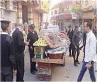 تحرير 687 مخالفة إشغال طريق بالجيزة