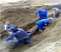 إصلاح الكسور المفاجئة في شبكة المياه بمحافظات القناة