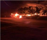 السيطرة على حريق منزل بقرية في الشرقية   صور