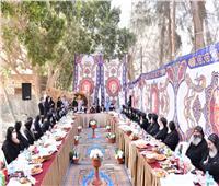 على مائدة إفطار..البابا تواضروس يلتقي أحبار الكنيسة في دير السريان