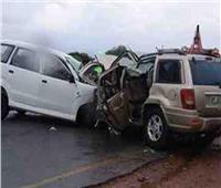 مصرع عامل وإصابة ثلاثة في حادث بطريق رافد جمصه بالدقهلية