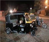 إصابة سائق توك توك وربة منزل في حادث بطريق شربين دمياط