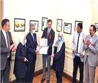 معرض روسيا في ذاكرة الكاريكاتير المصري بالقاهرة