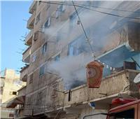 بسبب ماس كهربائي.. إصابة سيدة وطفليها في حريق شقة بالإسكندرية  صور