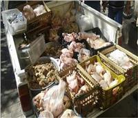 ضبط طن ونصف مواد غذائية فاسدة داخل ثلاجة بالجيزة