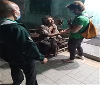 إنقاذ شاب بلا مأوى وإيداعه بمستشفى العباسية لتلقي الرعاية الصحية