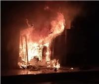 السيطرة على حريق نشب بأحد المحلات التجارية بالعاشر من رمضان