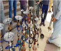 مصادرة 97 شيشة وغلق 8 مقاهي مخالفة بسوهاج