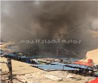 السيطرة على حريق التهم محل ملابس بمنطقة رمسيس| فيديو