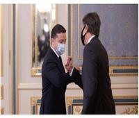 الرئيس الأوكرانييلتقي وزير الخارجية الأمريكي في كييف