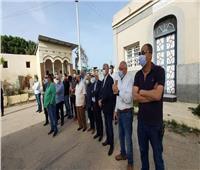 محافظ بورسعيد يشارك في تشييع جثمان الراحل مدحت فقوسة