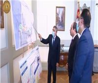 فيديو| الرئيس يطلع على مشروعات تطوير قناة السويس ونتائج تحقيقات السفينة الجانحة