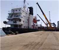 تفريغ 5900 طن رخام بميناء غرب بورسعيد