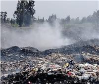 السيطرة على حريق مقلب القمامة بقرى سنهور بدمنهور| صور