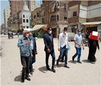 رئيس مدينة المحلة الكبرى يتابع أعمال التطوير القرى