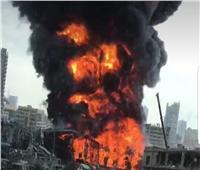 حريق ضخم عند مدخل مدينة «بوشهر» الإيرانية التي بها محطة نووية