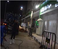 حملة ليلية لتطهير وتعقيم الميادين والشوارع بالأقصر