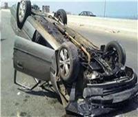 إصابة 3 أشخاص في انقلاب سيارة على طريق «رافد جمصة» بالدقهلية