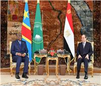 السيسي يستقبل رئيس الكونغو الديمقراطية بقصر الاتحادية |فيديو