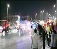 مصرع طفل وربة منزل وإصابة 6 آخرين في حادث مروري ببني سويف