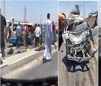 إصابة 20 شخصاً بينهم أطفال في حادث مروري بطريق «قنا - سوهاج»