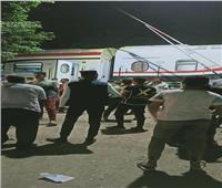 ننفرد بصور خروج قطار «القاهرة - أسوان» عن القضبان بالعياط