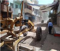 تجريد مدخل قرية «أم خنان» في الحوامدية بالجيزة | صور