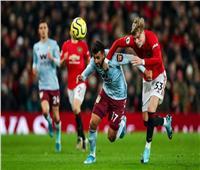 بث مباشر مباراة أستون فيلا ومانشستر يونايتد