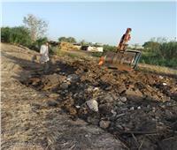 استمرار أعمال الموجة 17 لإزالة التعديات على نهر النيل بالدقهلية
