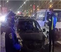 فحص 25 قائد سيارة وإيجابية 5 سائقين لتحليل المخدرات في أسوان
