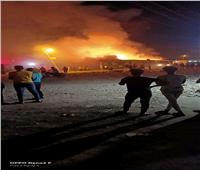 السيطرة على حريق نشب في مقلب قمامة بدمنهور