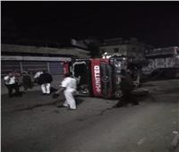 إصابة سائق في انقلاب سيارة نقل بطريق «المحلة - طنطا»