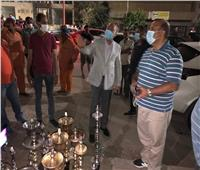 ضبط وتشمييع 5 مقاهي للتعدى على المسافات الحرة أمام العقارات بمدينة نصر