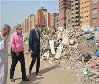 رفع120 طن قمامة وإزالة مباني متعارضة مع توسعة الدائريبالقليوبية